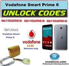 Vodafone UK Smart prime 6  Smart ultra 6 Unlock Code locked to Vodafone UK only