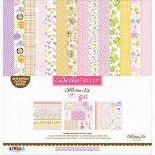 "Bella Blvd Sweet Baby Girl Collection kit 12x12"" scrap set Baby chica 30,5 cm"