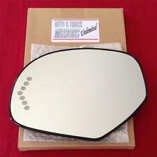 NEW Mirror Glass AND BACKING HEATED CHEVY GMC TRUCK SUV Driver Left Side SIGNAL