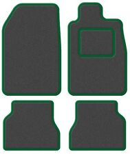 TVR Tasmin 85 85- Super Velour Dark Grey/Green Trim Car mat set