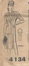 "1940s Vintage Sewing Pattern SUIT-SKIRT & JACKET B36"" (R637)"