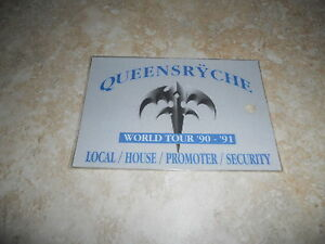 Queensryche 90-91 World Tour Backstage Concert  Pass Laminated #1