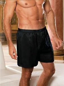 Valentines Mens Silk Feel Satin Lingerie Underwear Boxer Shorts Nightwear Pyjama