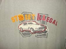 Juice Racing Men's gray T Shirt Street Illegal car photo stitching Size Large