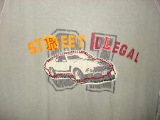 Juice Racing Men's gray T Shirt Street Illegal car photo stitching Size Large