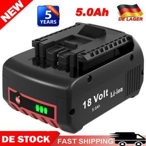 Für Bosch Akku Ersatzakku GBA 18V 5Ah GSR GSB 18 Volt BAT618 BAT609 LED-Anzeige