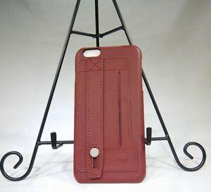 Reiko iPhone 6 Plus Genuine Leather Hand Strap Case In Burgundy T3