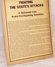 Weather Underground Statement Prairie Fire Osawatomie SDS radicals COINTELPRO