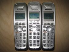 Lot of 3 Panasonic Kx-Tga402 1.9 Ghz Cordless Expansion Handset Phone