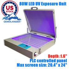 Usa Tabletop Precise 20 X 24 80w Led Uv Exposure Unit Screen Printing Machine