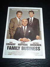 FAMILY BUSINESS, film card [Sean Connery, Dustin Hoffman, Matthew Broderick]