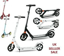 UK Modern Adult City Kick Scooter Adjust Foldable Aluminium Scooters Big Wheel