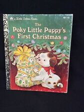 The Pokey Little Puppy's First Christmas 461-01 A Little Golden Book Made in USA