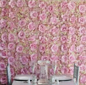 12 Pack Pink/Cream Silk Rose Hydrangea Flower Wall Backdrop Wedding Party Decor
