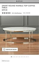 MARBLE top round coffee table