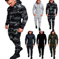 2PCS Men Tracksuit Sport Hoodies Sweatshirt+Pants Casual Sport Jogging Suit