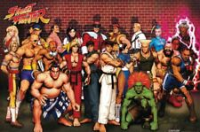 Street Fighter Classic Character Collage Poster Video Game Wall Art Print New