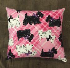 """Handmade Fleece Scottie Dog Accent - Throw Pillow 10"""" x 8"""""""