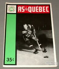 1963-64 AHL Quebec Aces Program Leon Rochefort Cover