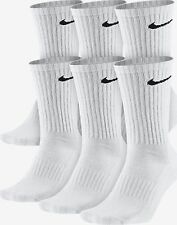 NIKE 6 PAIR PACK PERFORMANCE COTTON CREW KID'S SOCKS SIZE 5Y-7Y  NEW SX4455  100