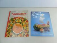 "Vintage Lot Of 2 ""Fine Art oF Garnishing & Apptizers""  Recipes Cooking Ideas"