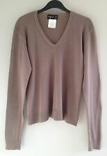 RARE Vintage 90's AGNES B Cappuccino Long Sleeve Top - Size 1; UK8-10, FR36-38