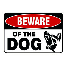 Beware Of The Dog Logo Iron Sign, There Are Dogs Metal Warning Sign 30x20cm
