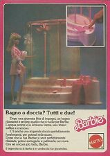 X1079 BARBIE - Bagno o doccia? Tutti e due - Mattel - Pubblicità 1986 - Advertis