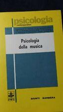 Revesz: Psicologia della musica. Giunti Barbera, 1983