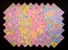 """SPARKLING BUTTERFLIES 5"""" Squares, 100% cotton, Prewashed Quilt Fabric (#113B)"""