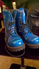 10 hole boots underground punk oi blue steel cap toe worn once