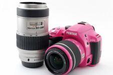 Pentax K-50 16.3MP 18-55/80-320mm Lens Set Pink [Exc+++] w/8GB SD,Strap [813]