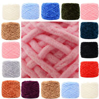 NEW 100G skeins yarn Chunky Crochet chenille Milk Soft Baby velvet Knitting Wool