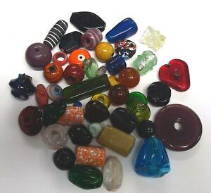 12 Ounces handmade assorted lamp work art glass furnace glass beads GBS115
