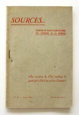 Sources n°13 - 1942 - Chantiers de la Jeunesse - La Couqueto de Marseille - rare