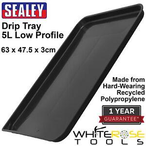 Sealey Drip Tray Low Profile 5L Oil Fluid Car Vehicle Service 63 x 47.5 x 3cm