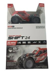 Power Craze Shift 24 RC Truck Mini RC RED High Speed Vehicle Electric Toy 2.4G