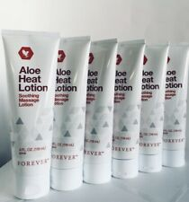 6 New Tubes Forever Living Aloe Heat Lotion(4 oz each) for Soothing Massage
