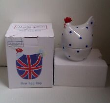 EASTER, Martin Gulliver Ceramic Hen Egg Cup with Blue Dots *BOXED*