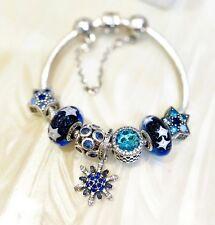 7 Authentic Pandora Midnight Star Dazzling Snowflake Dangle  Charm Bead #6