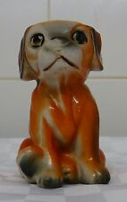 Vintage Retro Kitsch Orange Dog Figure 1950s Made In China