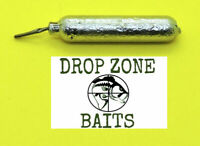 10 Count 1/8 oz Finesse/Cylinder Drop Shot Sinkers / Weights