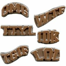 Text Lingo Words Chat Chocolate Candy Mold  LOL IDK WTF OMG TGIF