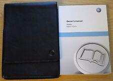 Genuine Vw Sharan Manual Owners Manual Cartera 2010-2015 Pack 11956