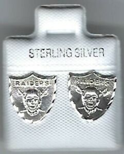 Las Vegas Raiders Sterling Silver Earrings