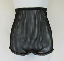 VINTAGE 1950s COLURA BLACK ACCORDION FOLD HIGH WAIST LACE PANTIES SIZE SMALL