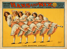 "Vintage The Dancing Chicks Burlesque Ad 14 x 11"" Photo Print"
