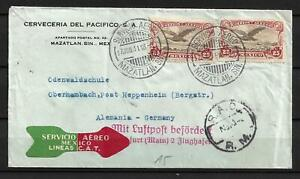 Mexico - 1931 Air Mail Cover t/ Germany - VF Used !!!!!  (A3950)