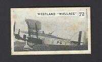 ALLEN - AEROPLANES - #72 WESTLAND WALLACE