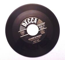 Stranger In Paradise by Four Aces Featuring Al Alberts 45 Rpm Decca Records